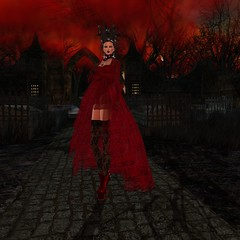 ezura + eVa Gothic Lace Dress (Ananya Mai People's Choice MVW2013) Tags: life ex lace sl mai second ananya xue ezura othic gothg