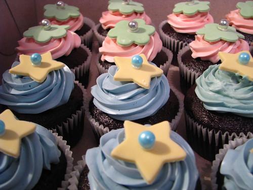 Cute star cupcakes