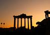Sunset at the Roman Forum (Larterman) Tags: travel sunset italy rome roma tiber romanforum lazio travelphotography flickrduel romesunset