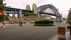 Sydney Harbour Bridge (oxfordblues84) Tags: au sydney australia nsw newsouthwales hyatt banners therocks sydneyharbourbridge 5photosaday thecoathanger circularquaywest