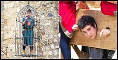 2012 Medieval Week of Montblanc - Prisoners (German SC) Tags: portrait urban man primavera home spring spain performance catalonia medieval urbana catalunya montblanc retrat actuaci tamron55200 setmanamedieval sonyalphadslra200 atravsdelvisor germansc