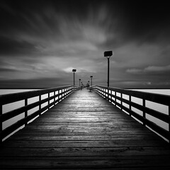 Pier per Gaydash.   Explored (Dennis Cluth) Tags: art nikon long exposure monotone d90 1116mm gaydash