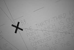 The Thirty-Third point (Zaskars) Tags: white black art lines point 50mm noir cross pentax 33 musée lorraine pompidou centrepompidou blanc géométrie 57 metz murs sollewitt lignes 2012 croix moselle f17 wals k10d smcpa50mmf17