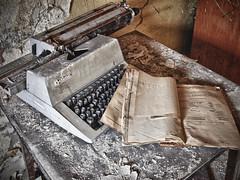 Typewriter (JuliSonne) Tags: berlin history decay rusty urbanexploration ddr crusty verlassen schreibmaschine schreiben kaputt geschichte urbex optima marode tasten lostplace artefakt abandonedurban