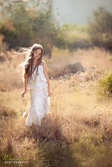 daughter of the air (hmarynka.) Tags: red portrait sun girl grass children pretty creative longhair backlit airy whitedress phtoography