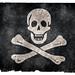 Jolly Roger Pirate Grunge Flag