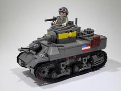 """M5 """"Stuart"""" Light Tank (Project Azazel) Tags: google tank lego stuart pa ww2 m5 semperfi wwll googleimages lighttank stuartlighttank legotank stuarttank thesecond"""