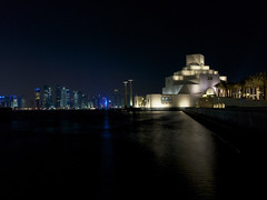 doha islamic museum - qatar (Emmanuel Catteau photography) Tags: city travel money art heritage museum architecture night landscape al holidays photographer gulf reporter gas arabic east collection national journey oil planet conde lonely middle thani geo geographic islamic nast doha qatar traveler richest catteau wwwemmanuelcatteaucom