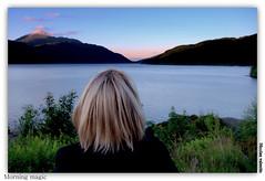 Morning magic (Nicolas Valentin) Tags: uk light sky mountain tree nature water clouds landscape scotland bravo scenery loch lomond lochlomond ecosse mywinners