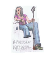 Doctors Wait Room4 (asymmetricalan) Tags: woman jeans stump crutches amputee sexywoman