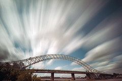 Colour...... (Digital Diary........) Tags: longexposure bridge clouds movement le runcornbridge weldingglass