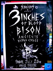 Three Inches of Blood (knightbefore_99) Tags: show art rock metal vancouver poster concert theatre gig hard vogue bison ancients vicious cycles threeinchesofblood