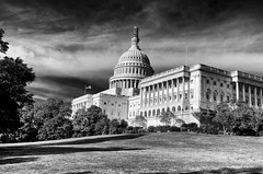 Damn I Love This Country!!!! (Baab1) Tags: blackandwhite bw washingtondc usflag uscapital