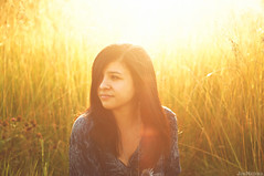 Steph Gomez (Jon Medina) Tags: sun cute girl field female 50mm golden model sony hour flare alpha a35 stephgomez nickdinatale sheddinghope