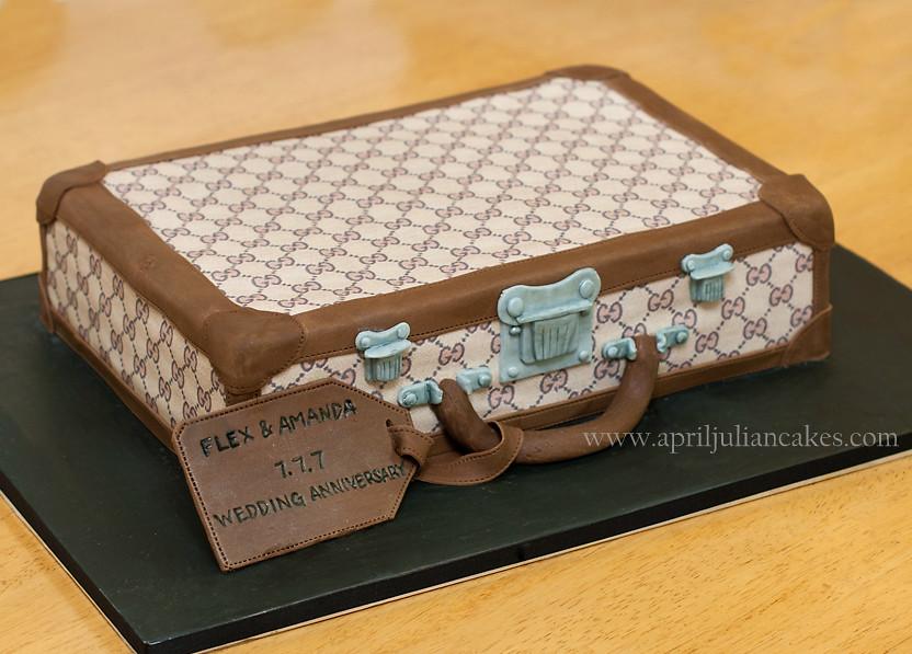 Gucci Briefcase Cake