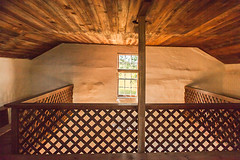 Hauge Log Church - Three Sided Balcony (bo mackison) Tags: windows wisconsin balcony historicchurch nationalregisterofhistoricplaces driftlessregion canon5dmarkii haugelogchurch originalpews daleysville southewesternwisconsin