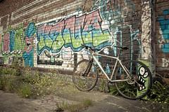 Tour de Graf - Stage 1 - Hull 'The cove' (I AM JAMIE KING) Tags: street brick art bike bicycle wall river gum de graffiti 1 design milk paint dad artist pattern colours tour cove ns stage tag yorkshire graf text wheels neil spray east un cycle graffito hull kona 96 activites aggro etage etape relm illeagal bigcig tourdegraf