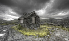 'Slate Quarry' (Timster1973 - thanks for the 11 million views!) Tags: uk colour industry wales clouds canon dark landscape grey industrial hut welsh slate drama quarry hdr northwales fluffies photomatix slatequarry welshlandscape