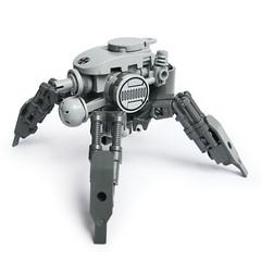 B-9 KriegsLufer (Fredoichi) Tags: robot lego space military walker micro mecha mech microscale dieselpunk fredoichi
