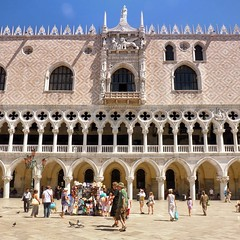 Doge's Palace in summertime (Bn) Tags: world life voyage street city trip travel venice houses girls light sea summer people italy music sun man color sexy heritage water beauty sunglasses river pose boats island mirror islands site italian ancient topf50 women san colorful warm europe italia ride good taxi pigeons shoreline handsome pedestrian palace taxis canals unesco explore looks marco venetian richness piazza palazzo venezia renaissance palaces ducale itali doges serenading admire veneti vaporetti 50faves