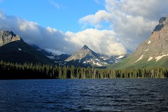 Morning at Pray Lake (Cole Chase Photography) Tags: canon montana glaciernationalpark t3i twomedicinelakes praylake paintedteepeepeak