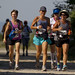 Members of team Hard Knocks jog the first leg of the 100km Oxfam Canada's Trailwalker trail which was held from Wasaga beach to Midland Ontario from July 13 to 15, 2012. Handout/OXFAM