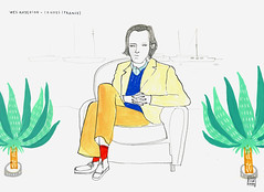 WES ANDERSON IN CANNES (littleisdrawing) Tags: portrait cannes drawing carla anderson tribute wes fuentes littleisdrawing