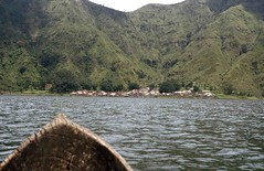 Traversing Batur Lake in 1980 (ken2004) Tags: bali lake boat 1980 batur trunyan