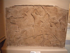 Assyrian cavalry (h_savill) Tags: old city london history archaeology stone museum ancient bc panel decoration middleeast palace carving historic musee britishmuseum artifact archeology 2012 artefact assyria