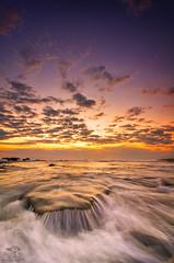 Sunset Flow (eggysayoga) Tags: blue sunset sea bali seascape beach water rock indonesia landscape golden xpro nikon wave tokina hour 121 116 atx cokin gnd canggu gnd8 1116mm d7000 mengening x121s