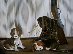 Pop's Pups -oil