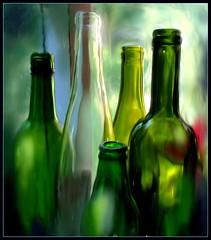 Green bottles - digital painting (edenseekr) Tags: green glass bottles digitallypainted corelpainter11