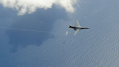 Across the pond (Official U.S. Air Force) Tags: aircraft aviation military aerial bomber lancer usairforce airman airmen refueling b1b dyessairforcebase 100thairrefuelingwing