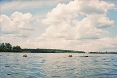 (staceymccool) Tags: lake film analog swim 35mm canon island guelph hillside float 2012 photura