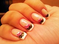 Francesinha + Flores (KellyD.) Tags: flores branco nailart unha francesinha