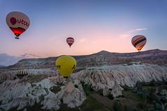 Hot air baloons@Goreme (Sean X. Liu) Tags: hotairbaloons goreme turkey sunrise colorful