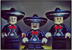 Three Amigos (LegoKlyph) Tags: lego custom threeamigos luckyday nednederlander dustybottoms movie classic funny stevemartin chevychase martinshort
