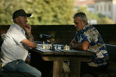 399V1610 (Cecilia Manuti) Tags: chess playing old people street colors green lucca