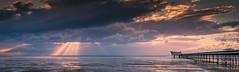 Pier and Sunbeams (Tom Strawn) Tags: sunbeams pier sunset beach southport nikon d750 grad filter hitec