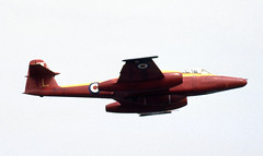 WH453. RAE Llanbedr Gloster Meteor D16 (Ayronautica) Tags: military scanned 1989 july internationalairtattoo riat fairford egva airshow royalaircraftestablishment raellanbedr glostermeteord16 wh453 ayronautica