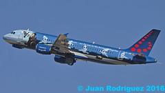 OO-SNC - Brussels Airlines - Airbus A320-214 - PMI/LEPA (Juan Rodriguez - PMI/LEPA) Tags: nikon d90 sigma 70200mm 80400mm pmilepa aeropuerto airport sonsanjuan sonsantjoan palma mallorca plane airplane planes airplanes aircraft airbus a320 oosnc brusselsairlines magritte renemagritte aeroplano