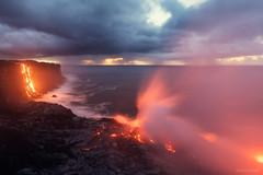Fiery Plume (Raiatea Arcuri) Tags: 61g lava ocean entry kamokuna kalapana volcano volcanoesnationalpark plume volcanic hawaii bigisland kilauea puuoo
