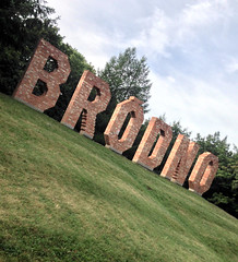 Welcome to Brodno (roomman) Tags: poland 2016 warsaw warszawa brodno brdno sculpture park parkrun sport sports fun run running never stop saturday morning early art danish denish jens haaning 2012 brick bricks name nature landscape mobile camera phone handy iphone installation artist modern parkbrodnowski brodnowski