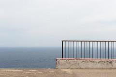 The old man (Maerten Prins) Tags: spanje spain sea middelandse zee mediterranean wall hekje railing composition abstract empty minimal minimalism outdoor