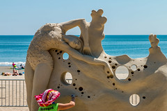 """Go With The Flow"" by Melineige Beauregard (Facundity) Tags: reverebeach sandsculpture sand outdoorphotography artistatwork art artisticcompetition melineigebeauregard beach ocean summer streetphotography shoreline candid sculpture canoneos70d reverebeach2016internationalsandsculptingfestival"