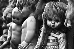Dead doll.. (Denisa Colours of Decay) Tags: doll creepy creepydoll blackandwhite bw