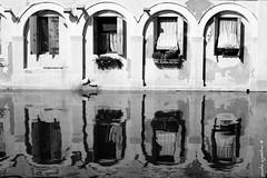 4 windows (paolo agostini) Tags: chioggia canalvena bn bw finestre window archi 50mm