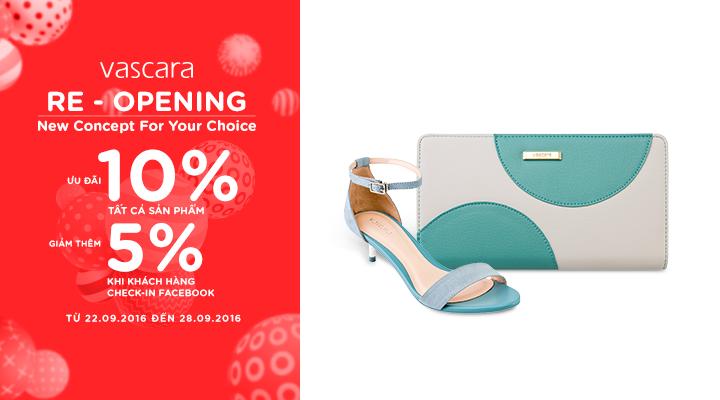 Re – Opening Vascara 497 Quang Trung – Ưu đãi 10% tất cả sản phẩm và giảm thêm 5% khi check-in Facebook