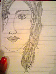 DSC02034 (MKGirl96) Tags: portrait skectch design doodle pencil self brunette teen