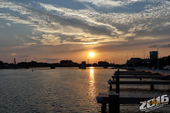 Fox River Sunset 8/24/16 (Winglet Photography) Tags: wingletphotography georgewidener stockphoto earth sun wisconsin canon 7d georgerwidener inspiration colors sky clouds cloudporn chasing observing weather oshkosh sunset dusk evening orange riverfront foxriver